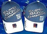 NEW YORK GIANTS SUPER BOWL XLVI CHAMPIONS TROPHY LOCKER ROOM REEBOK ON FIELD CAP