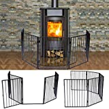 Apelila Fireplace Fence Baby Safety Walk-Through Door,Metal Fire Gate Indoor Safety Gates Pets Dog Cat Christmas Tree Fence (01)