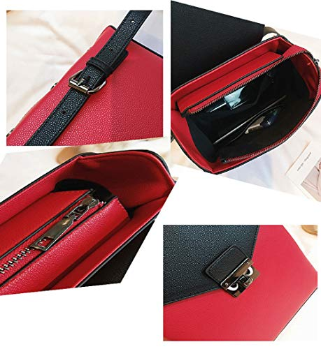 Funciones Colgante Viaje Mochila Cuero Bloqueo Múltiples Hardware Señora De Pu Bolso Red Femenino Mujer Anvbao La 6HSzwa