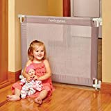 North States 42.6' Wide Portable Traveler Baby Gate: Portable gate that sets in place in seconds, with travel bag. Pressure mount. Fits 25.2'-42.6' wide (28' tall, Light Gray)