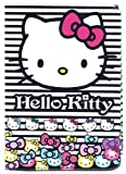 Hello Kitty Black White Stripes Passport Cover ~ Sanrio