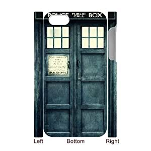 Iphone 4,4S 3D DIY Phone Back Case with Police Box Image
