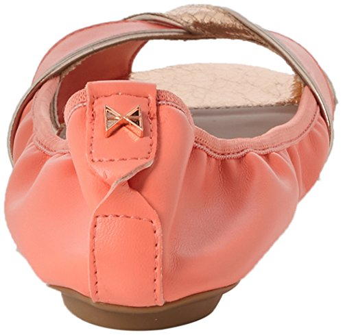 coral Femme 018 Amelia Ouvert Twists Bout Orange Ballerines Butterfly qA0zwgx
