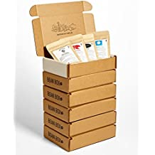 Bean Box Gourmet Coffee Sampler - 6-Month Gift Subscription - (fresh roasted coffee gift box, specialty whole bean, 4 roasts every month, gifts for mom, gifts for dad)