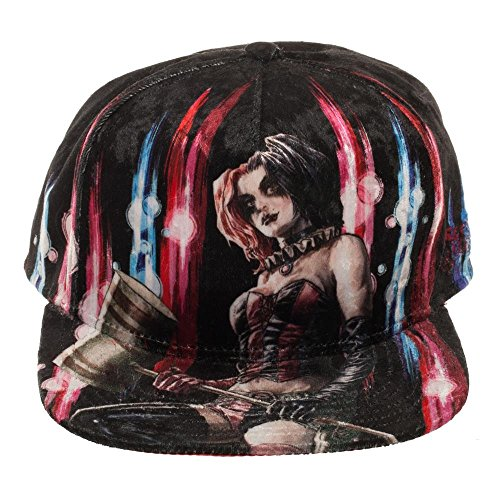 Harley Quinn Snapback Hat Velvet Snapback Hat Gift Hat Snapback-OSFA ()