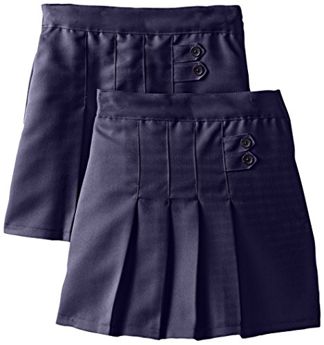 Genuine Big Girls' Scooter (More Styles Available), 2 Pack Poly Navy-IIIFJC, 8 (Uniform Waist Elastic)