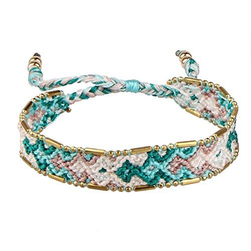 KELITCH Macrame Colour Candy Wide Bohemia Woven Friendship Bracelet Handmade Cuff Wrap Bracelet