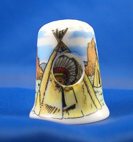 In porcellana inglese da collezione con dé-judas in Wigwam indiano pellerossa Birchcroft China