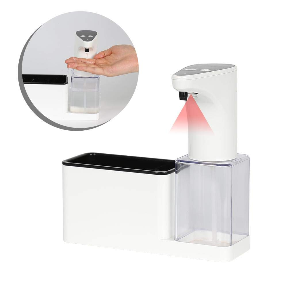 coreychen Wall Mount Pumps Automatic Sensor Soap Dispenser Hand Sanitizer Storage Box Induction Outlet