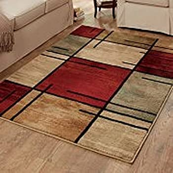 Amazon Com Better Homes And Gardens Spice Grid Area Rug