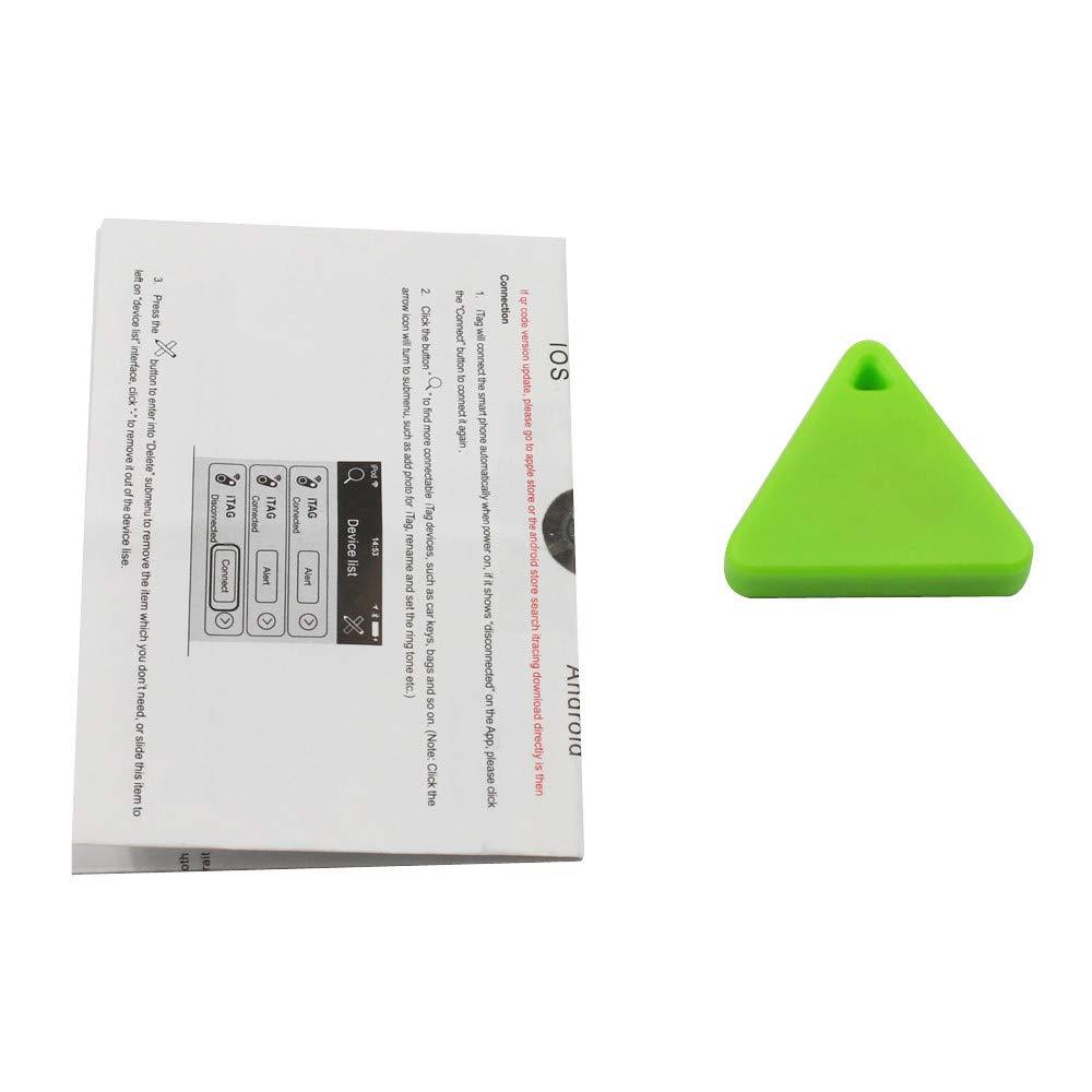 htfrgeds Anti-verlorene intelligente Bluetooth Verfolger-Kind-Beutel-Mappen-Schl/üssel-Sucher GPS-Verzeichnis-Warnung f/ür Kinderdreieckform