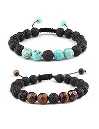 Unisex Adjustable Lava Stone Diffuser Bracele meditation healing natural Volcano stones Bracelets