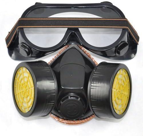 Accessotech - Máscara y gafas de protección para pintura con spray (2 piezas)