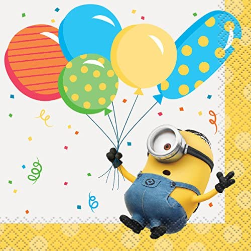 Party Bundle Despicable Me Birthday Party Supplies Bundle for 16 Includes Lunch Plates Beverage Napkins Lunch Napkins Table Cover