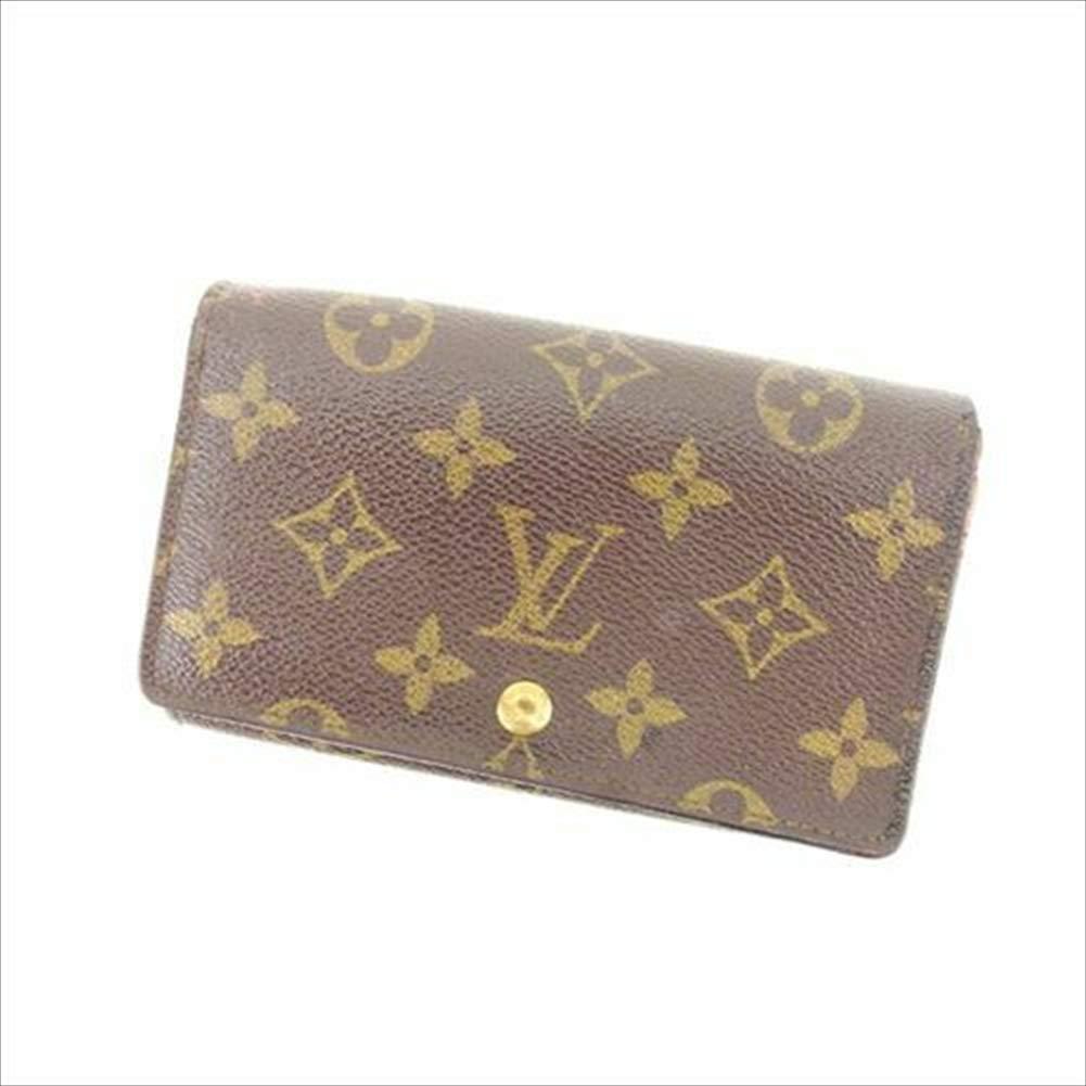 ルイヴィトン Louis Vuitton L字ファスナー財布 二つ折り メンズ可 ポルトモネビエトレゾール M61730 モノグラム 中古 人気 T13897   B07R6816KT