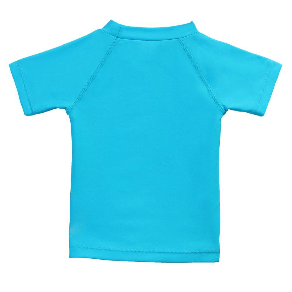 0e2603bcd0 Amazon.com: Estamico Boys' Short Sleeve Rashguard Surf Swim Shirt UPF 50+  Sun Protective Swimsuit: Clothing