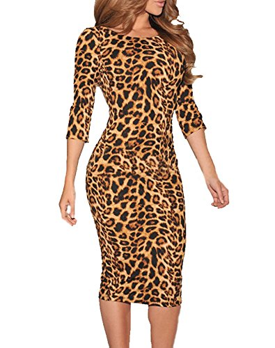 Ladies Leopard Sleeve Formal Cocktail product image
