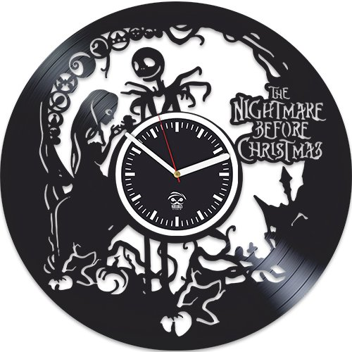 Nightmare Before Christmas Gift, Jack Song, Vinyl Wall Clock