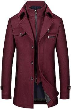 冬のウールブレンドコートビジネスカジュアルロングウールオーバーコートソリッドウールジャケット