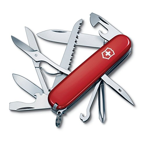 Victorinox Swiss Army Fieldmaster Pocket Knife, Red,91mm ()