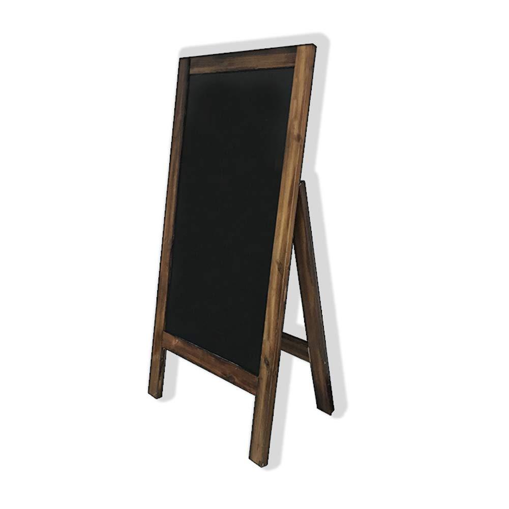 CHAOXIANG 黒板ブラックボード看板 磁気の チャコールスタンド レトロ ホテル 看板 広告ラック 簡単な書き方 (色 : A, サイズ さいず : 60X100cm) 60X100cm A B07MSGX3YY