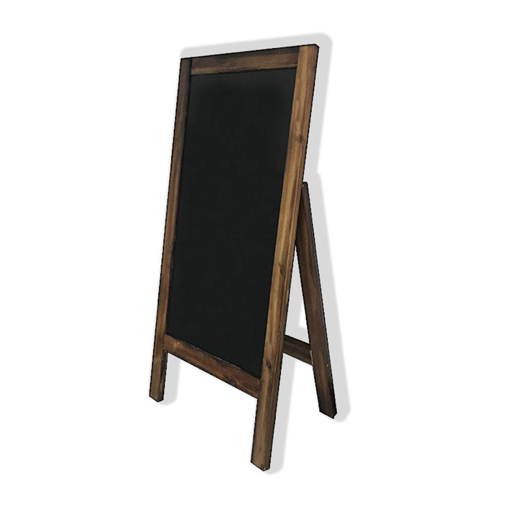LIANGJUN Message Board Chalkboards Retro Solid Wood Support Magnetic Sturdy Coffee Shop Bakery Clothing Store (Color : A, Size : 60X120CM)