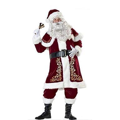 88cc69871e7cc Costumes De Noël Costume Adulte Cosplay De Luxe en Peluche pour Hommes Les  Robes De Noël