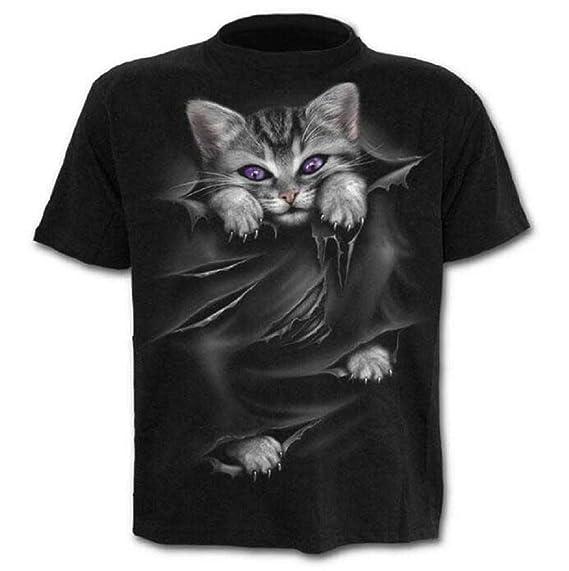 Camiseta - Camiseta - suéter Gato - Gatito - 3D - Manga Corta ...