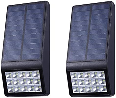 Aplique Solar LED Exterior Con Sensor de Movimiento 15 LEDS Ultrabrillantes | 500 Lumens, Foco Solar, Hasta 19 HORAS de Luz, Para Pared, Exterior | Jardín | Patio | Terraza (2 Unidades): Amazon.es: Iluminación