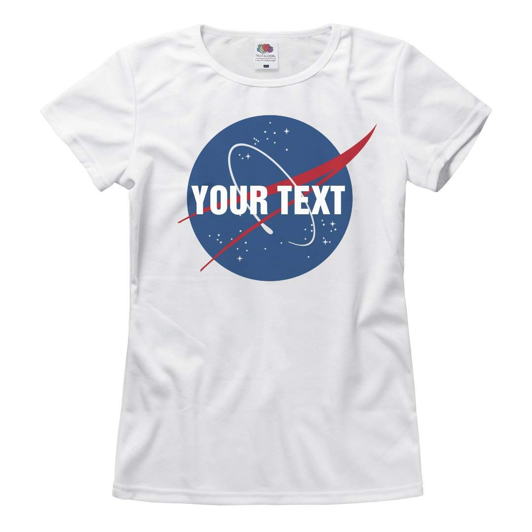 Amazon Nasa Logo With Custom Text Ladies Relaxed Fit Basic T