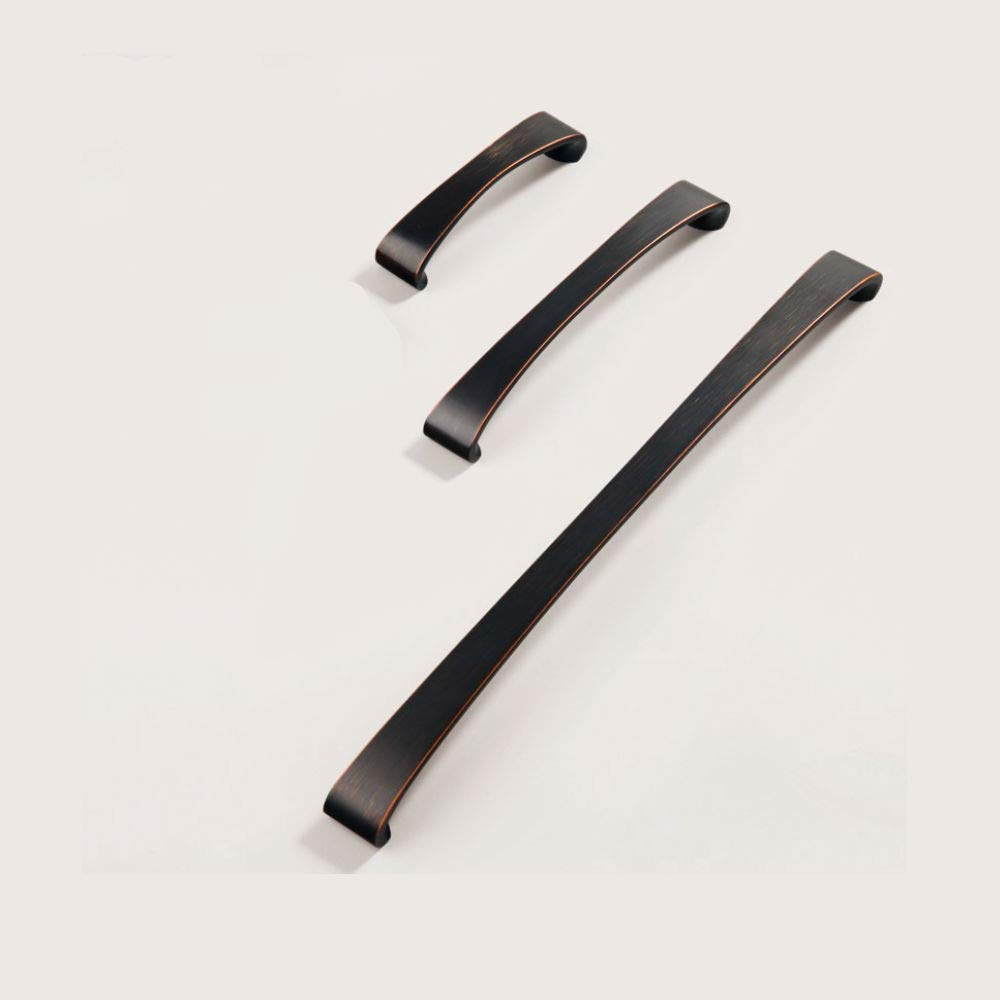 141mm 128mm 2-Pack Oil Rubbed Bronze Arch Handle for Cupboard Furniture Closet Drawer Kitchen Screws Included 5.55 Length Hole Center LWZH Cabinet Hardware Handle Pull 5.1