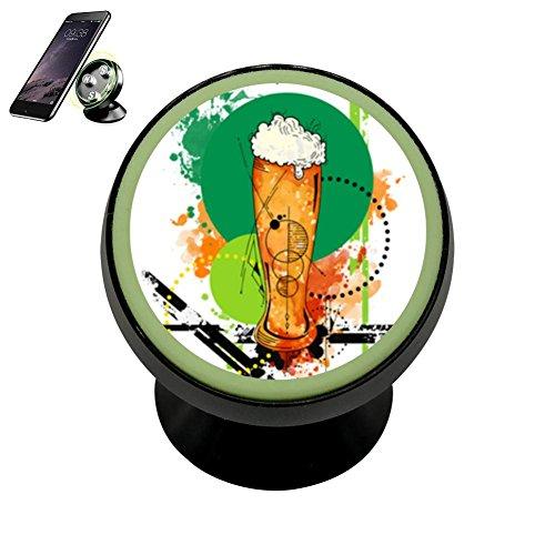 (JTYGREL Weizen Beer Magnetic Vehicle Mounted Mobile Phone Bracket Holder 360 With Noctilucent)