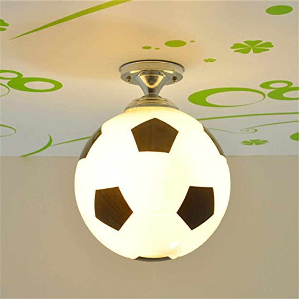 EGGofry de la moda chico de fútbol sala de la lámpara de techo de los niños lindos dormitorio luces de techo de bebé sala de accesorios de techo 25 25 31cm luz cálida