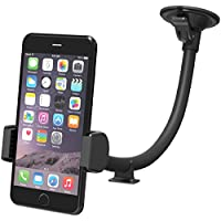 VAVA Phone Holder for Car Windshield With One Hand Operation, Long Arm Car Phone Mount for iPhone 6 S 7 Plus 8 X and Android