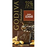 Godiva 72% Dark Almonds Bar 100g (5-pack)