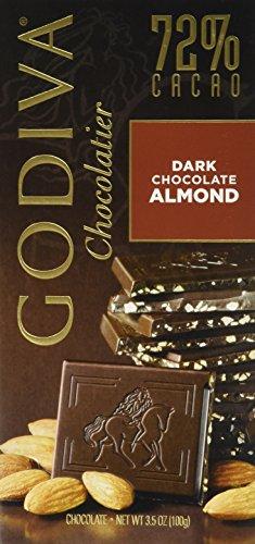 031290035533 - Godiva Chocolatier Dark Chocolate with Almond Bar, Large carousel main 0