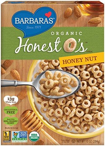 Barbaras Bakery Honey - Barbara's Bakery Organic Honest O's Cereal, Honey Nut, 10 Ounce