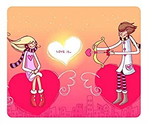 Couple Love POP cartoon Masterpiece Limited Design Oblong Mouse Pad by Cases & Mousepads