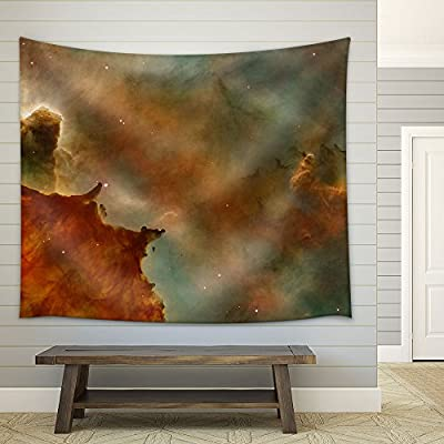 Colorful Cosmic Clouds Fabric Wall Small
