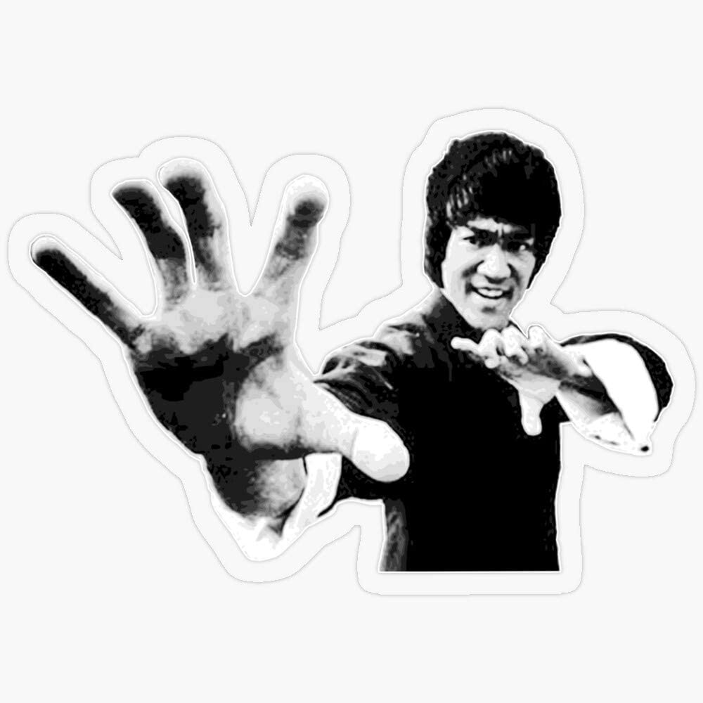 """Lplpol Stickers Bruce Lee Says Be Like Water Gift Decorations 5.5"""" Vinyl Stickers, Laptop Decal, Water Bottle Sticker"""