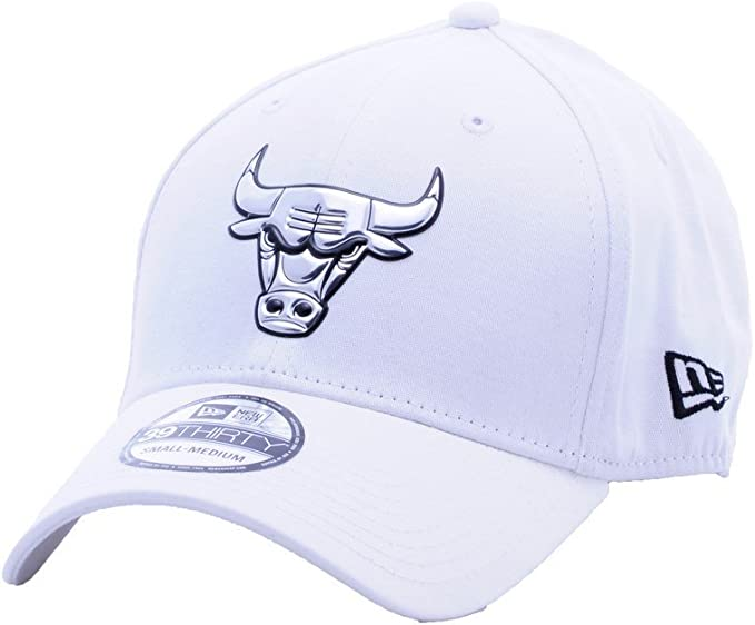 Gorra New Era – 39Thirty Nba Chicago Bulls Metallic blanco talla ...