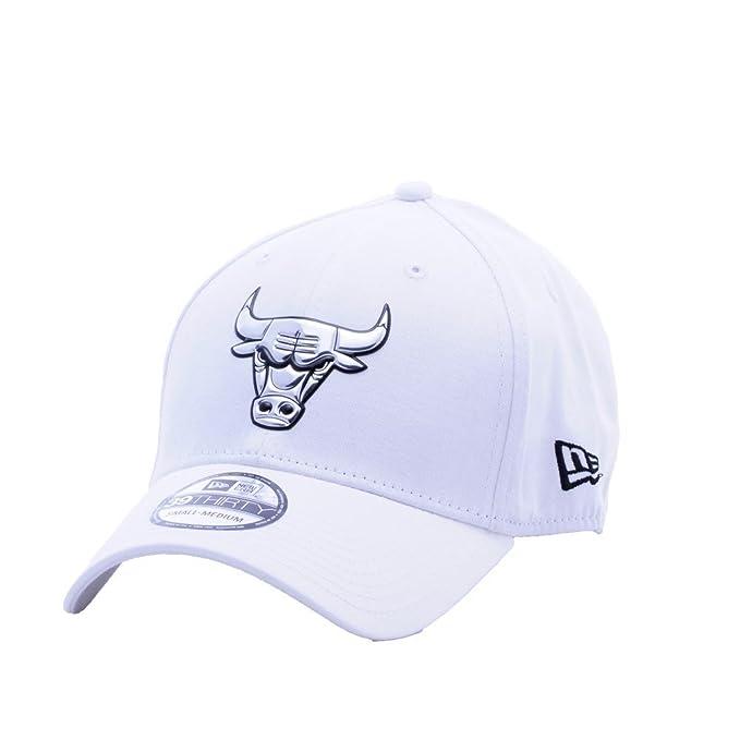 Gorra New Era - 39Thirty Nba Chicago Bulls Metallic blanco talla: S/M: Amazon.es: Ropa y accesorios