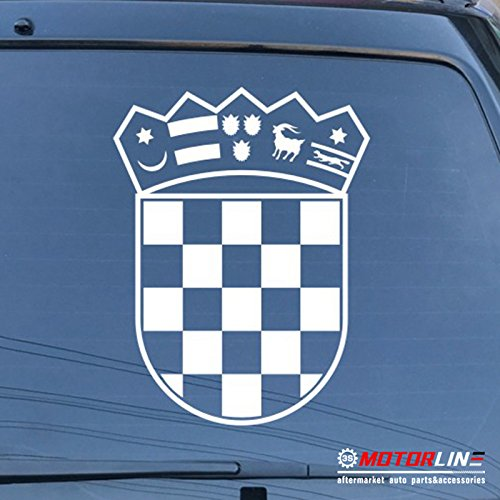 arms of Croatia Republic Decal Sticker Car Vinyl die cut pick size color (white, 4'' (10.2cm)) ()