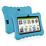 Ainol Q88 7' Display Kids Tablet Android 7.1 RK3126C Quad Core, 1GB+16GB, 0.3MP+0.3MP Cam, WIFI, Light Weight Portable Kid-Proof Shock-Proof Silicone Case, Kickstand Available With iWawa For Kids Education Entertainment (Blue)