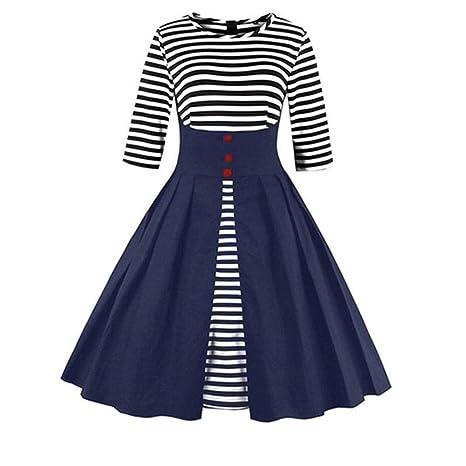 Yesmile Vestido de cóctel para mujer, años 50, elegante, falda ...