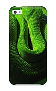 High Quality Green Snake Case For Iphone 5c / Perfect Case