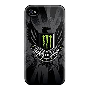 Durable Hard Phone Covers For Iphone 6plus With Provide Private Custom Trendy Monster Army Logo Pictures LauraAdamicska