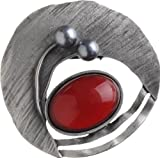 New Women Designer Fashion Pewter Art Brooch nwt Ladies Style