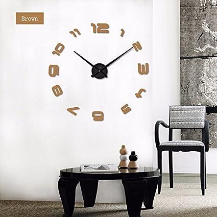 Nuovo modo di DIY orologio da parete 3D super grandi dimensioni ...