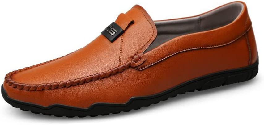 Sandals CJC Shoes Mens Casual Loafers Flat Formal Business Work Comfy Moccasins Walking Driving Shoes Wider Fitting Lightweight Color : T1, Size : EU41//UK7.5-8